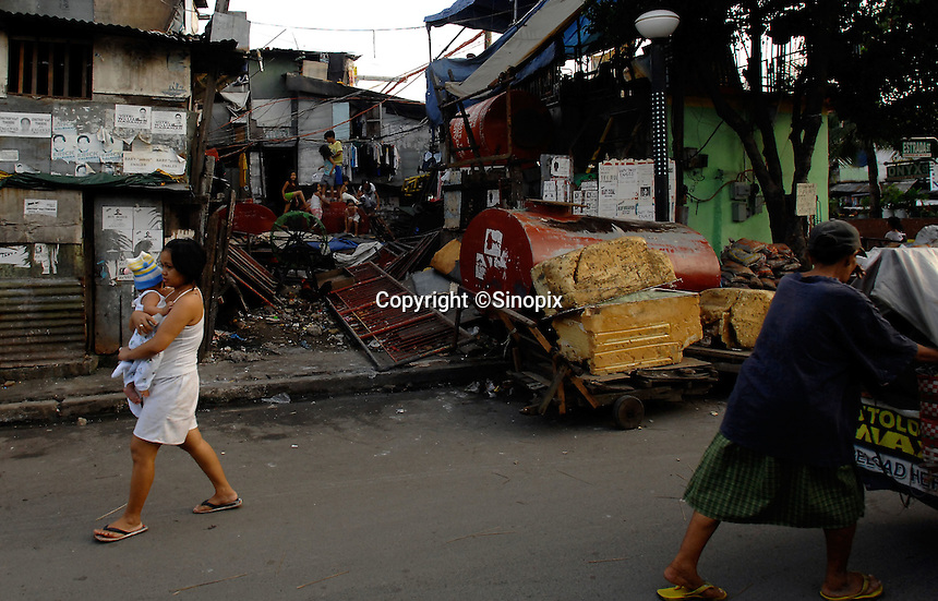 The slum area of Manila called San Anreas Bukid (neighbour-hood) where families commonly have between 6- 12 children. There is no family planning available from the Government due to a law passed by the Mayor and they are too poor to pay for their own contraception.