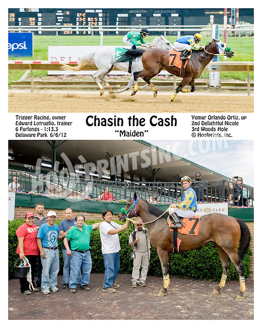 Chasin The Cash winning at Delaware Park on 6/6/12