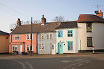Pretty village cottages at Alderton, Suffolk, England
