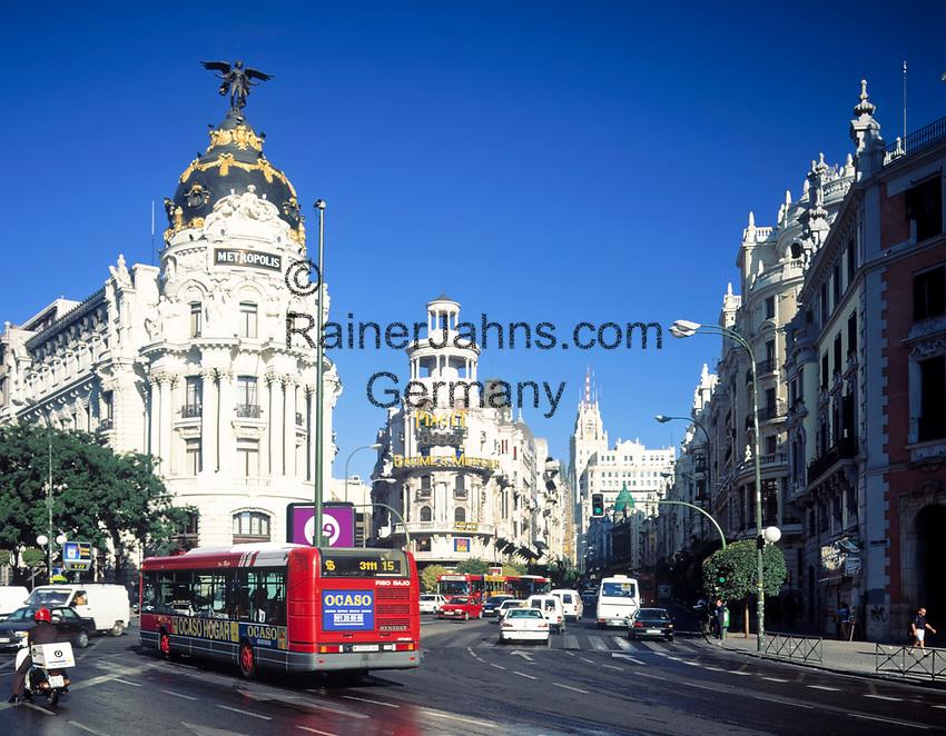 Spanien, Kastilien, Madrid: im Zentrum, Metropolis und Gran Via | Spain, Castile, Madrid: Metropolis and Gran Via at centre