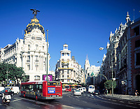 Spanien, Kastilien, Madrid: im Zentrum, Metropolis und Gran Via | Spain, Castile, Madrid: Metropolis and Gran Via at centre
