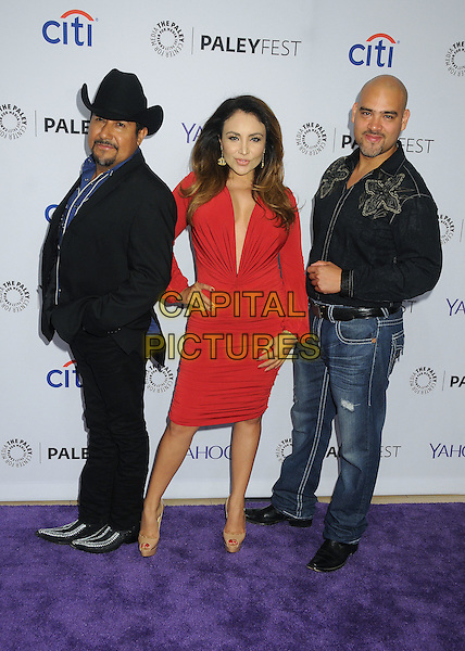 10 September 2015 - Beverly Hills, California - Andres Maldonado, Sylvia del Valle, Raul Molinar. 2015 PaleyFest Fall TV Preview - &quot;La Banda&quot; held at The Paley Center.   <br /> CAP/ADM/BP<br /> &copy;BP/ADM/Capital Pictures