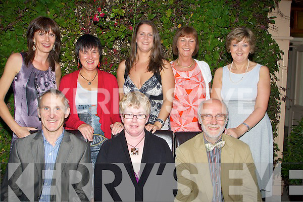 LEAVING: Mary Cullen who is leaving Ashe Street Clinic, Tralee was taken to dinner to mark her leaving by members of the Ashe Street Clinic, Tralee on Friday evening to Cassidy's Restaurant. Front l-r: Dave Buckley, Mary Cullen and Uive Hild. Back l-r: Deirdre Mahony, Margaret O'Connor, Lucy Johnston, Ann Rafferty and Mary Barry..