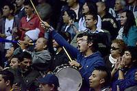BOGOTÁ -COLOMBIA. 29-11-2013. Aspecto del encuentro entre Guerreros de Bogotá y Academia de la Montaña durante el quinto partido de la final de la  Liga DirecTV de Baloncesto 2013-II de Colombia realizado en el coliseo El Salitre de Bogotá./ Aspect of the fifth match of the final between Guerreros de Bogota and Academia de la Montaña for the DirecTV Basketball League 2013-II in Colombia at El Salitre coliseum in Bogota. Photo: VizzorImage / Gabriel Aponte /