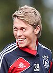 Nederland, Amsterdam, 19 oktober  2012.Seizoen 2012-2013.Training Ajax.Viktor Fischer van Ajax