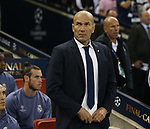 Zinedine Zidane manager of Real Madrid during the Champions League Final match at the Millennium Stadium, Cardiff. Picture date: June 3rd, 2017.Picture credit should read: David Klein/Sportimage