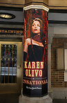 "Theatre Marquee with Karen Olivo  for ""Moulin Rouge!"" The Broadway Musical at the Al Hirschfeld Theatre on July 9, 2019 in New York City."