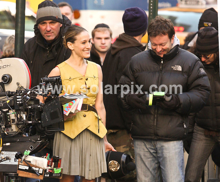 **ALL ROUND PICTURES FROM SOLARPIX.COM**.**SYNDICATION RIGHTS FOR UK, SPAIN, PORTUGAL, AUSTRALIA, S.AFRICA & DUBAI (U.A.E) ONLY**.Sarah Jessica Parker, filming 'Sex and the City: The Movie' on location at the 42nd Street Library, New York City, NY, USA. 28th November 2007..JOB REF: 5422 PHZ    DATE: 28_11_2007.**MUST CREDIT SOLARPIX.COM OR DOUBLE FEE WILL BE CHARGED* *UNDER NO CIRCUMSTANCES IS THIS IMAGE TO BE REPRODUCED FOR ANY ONLINE EDITION WITHOUT PRIOR PERMISSION*