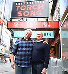 """Harvey Fierstein and Richie Jackson attends the Broadway cast photo call for """"Torch Song"""" at the Hayes Theatre on September 20, 2018 in New York City."""