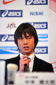 Kentaro Nakamoto (JPN), APRIL 21, 2011 - Athletics : Press conference during Marathon Men & Women Japan representative before the 13th IAAF World Championships in Athletics at Cerulean Tower Tokyu Hotel,Tokyo, Japan. (Photo by Jun Tsukida/AFLO SPORT)[0003] ...