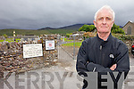 A GRAVE CONCERN: Castlegregory Undertaker Sean Lynch is concerned that new graves are laid on pavements in Killiney Cemetery leaving very little access in the area.