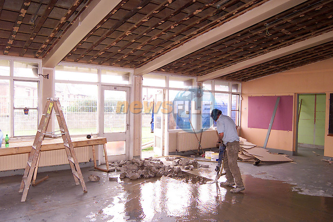 Renovations going on in St. Ita's school..Picture: Paul Mohan/Newsfile