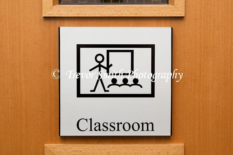 Sign on door of classroom in a Special Educational Needs school