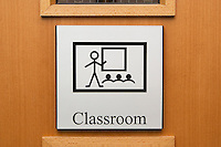 Sign on door of classroom in a Special Educational Needs school