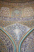 The interior of Sheikh Lotfollah Mosque. Sheikh Lotfollah Mosque is one of the architectural masterpieces of Safavid Iranian architecture, standing on the eastern side of Imam Square (Naqsh-E Jahan), Isfahan, Iran. Construction of the mosque started in 1603 and was finished in 1618. It was built by the chief architect Shaykh Bahai, during the reigh of Shah Abbas I of the Safavid dynasty. It is registered, along with the Imam Square, as a UNESCO World Heritage Site.