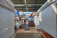 Pictured: The empty indoor market in the city centre of Swansea, Wales, UK. Wednesday 25 March 2020 <br /> Re: Covid-19 Coronavirus pandemic, UK.