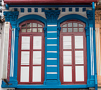 Arab Street Architecture, Kampong Glam. Singapore.