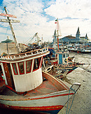 Brazil, Belem, South America, fishing boats moored at harbor