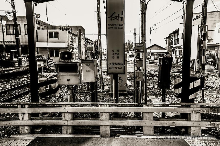 Train Station in Gunma, Japan.