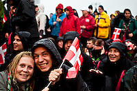 Danish scouts are preparing for the grand opening of the World Scout Jamboree. Photo: Fredrik Sahlström/Scouterna