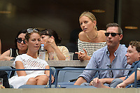 FLUSHING NY- SEPTEMBER 10: Christy Turlington, Karolina Kurkova and Edward Burns are sighted watching Angelique Kerber Vs Karolina Pliskova during the womens finals on Arthur Ashe Stadium at the USTA Billie Jean King National Tennis Center on September 10, 2016 in Flushing Queens. Credit: mpi04/MediaPunch