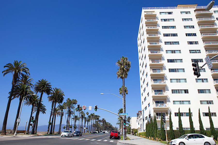 Apartment buildings in Santa Monica, California, USA
