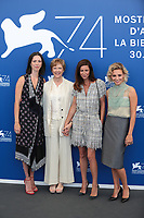Rebecca Hall, president Annette Bening, members Anna Mouglalis and Jasmine Trinca at the &quot;Venezia 74&quot; jury  photocall, 74th Venice Film Festival in Italy on 30 August 2017.<br /> <br /> Photo: Kristina Afanasyeva/Featureflash/SilverHub<br /> 0208 004 5359<br /> sales@silverhubmedia.com