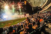 Fuegos artificiales durante el d&iacute;a de apertura de la temporada de beisbol de la Liga Mexicana del Pacifico 2017 2018 con el partido entre Naranjeros vs Yaquis. 11 octubre2017 . <br /> (Foto: Luis Gutierrez /NortePhoto.com)