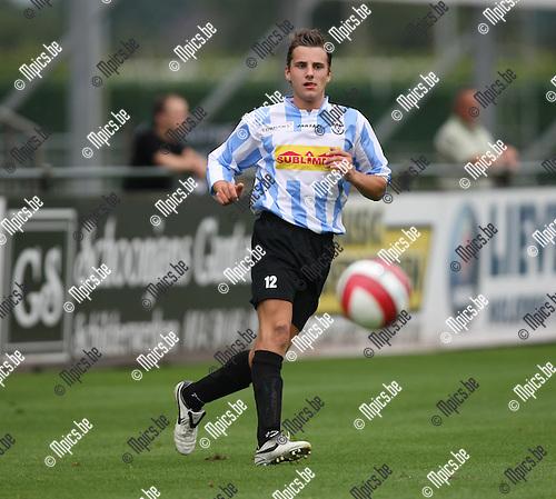 2008-08-09 / Voetbal / Verbroedering Geel-Meerhout / Glenn Van der Sanden..Foto: Maarten Straetemans (SMB)