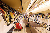 installation of overhead panels during final assmebly process of a Boeing 737 at Boeing Renton plant, Renton Washington