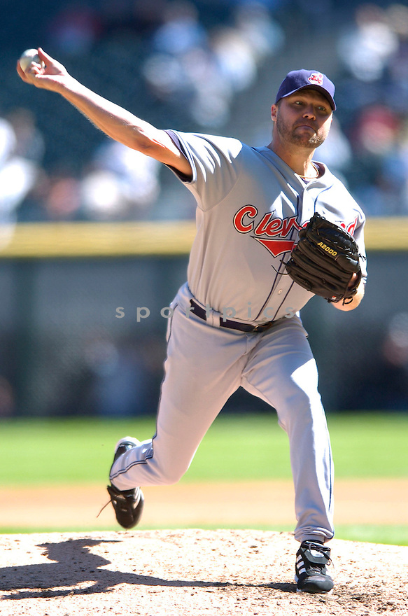 JAKE WESTBROOK, of the Cleveland Indians , in action during the Indians game against the  Chicago White Sox  in Chicago, IL on September 12, 2007...White Sox win 7-4..DAVID DUROCHIK / SPORTPICS.....