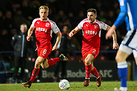 Lewie Coyle of Fleetwood Town breaks forward during the Sky Bet League 1 match between Rochdale and Fleetwood Town at Spotland Stadium, Rochdale, England on 20 March 2018. Photo by Thomas Gadd.