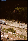 RGS Goose #5 running southbound near Leopard Creek.<br /> RGS  Leopard Creek, CO  Taken by Maxwell, John W. - 5/13/1946
