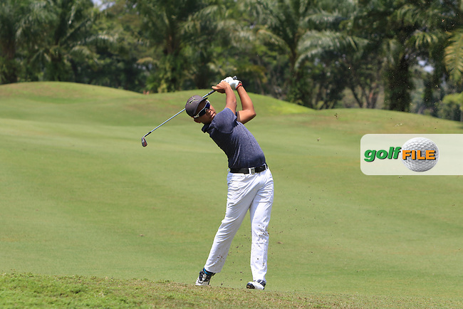 Shahriffuddin Ariffin (MAS) in action on the 2nd during Round 1 of the Maybank Championship at the Saujana Golf and Country Club in Kuala Lumpur on Thursday 1st February 2018.<br /> Picture:  Thos Caffrey / www.golffile.ie<br /> <br /> All photo usage must carry mandatory copyright credit (© Golffile | Thos Caffrey)