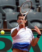 31-05-10, Tennis, France, Paris, Roland Garros, Novak Djokovic