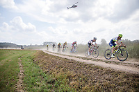 chasing group with Timothy Dupont (BEL/Circus -Wanty Gobert) leading<br /> <br /> Dwars Door Het Hageland 2020<br /> One Day Race: Aarschot – Diest 180km (UCI 1.1)<br /> Bingoal Cycling Cup 2020