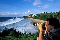 Puerto Rico, Rincón, Beach scene