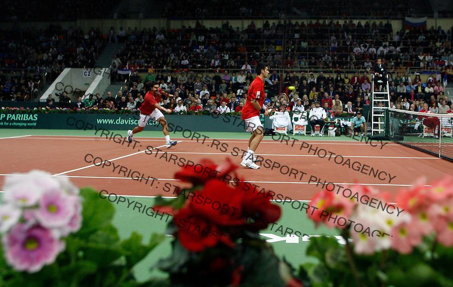 Tenis, Davis Cup, 1/8 round.Russia Vs. Serbia, .Novak Djokovic and Nenad Zimonjic Vs. Mikhail Youzhny and Dmitry Tursunov.Moskva, 02.09.2008..foto: Srdjan Stevanovic