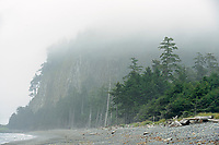 Fog on Agate Beach. Naikoon Provincial Park. Graham Island. , Haida Gwaii (formerly the Queen Charlotte Islands), British Columbia, Canada