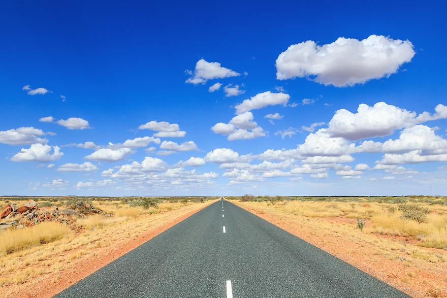 Outback highway. Pilbara Region of Western Australia.