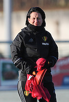 20170118 - TUBIZE , Belgium : Belgian assistant coach Tamara Cassimon pictured during a training session of the Belgian national women's soccer team Red Flames during their winter camp, on the 18 th of January in Tubize. PHOTO DIRK VUYLSTEKE | Sportpix.be