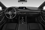 Stock photo of straight dashboard view of 2019 Mazda Mazda3 Skydrive 5 Door Hatchback Dashboard
