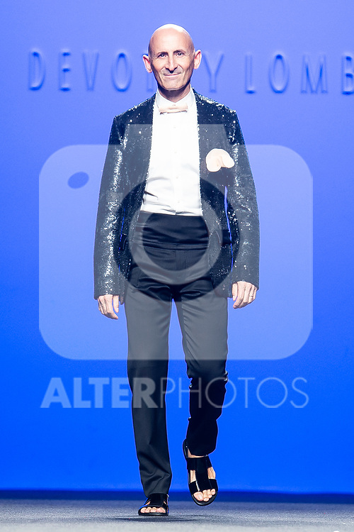 Fashion Designer Modesto Lomba walks the runway after 'Devota y Lomba' catwalk during the Mercedes-Benz Madrid Fashion Week Spring/Summer in Madrid, Spain. July 09, 2018. (ALTERPHOTOS/Borja B.Hojas)