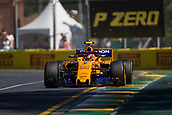 23rd March 2018, Melbourne Grand Prix Circuit, Melbourne, Australia; Melbourne Formula One Grand Prix, Friday free practice; The number 2 McLaren driven by Stoffel Vandoorne