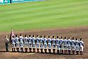 Osaka Toin team group,<br /> APRIL 1, 2016 - Baseball :<br /> Osaka Toin players line up during the closing ceremony after winningg the 89th National High School Baseball Invitational Tournament final game between Riseisha 3-8 Osaka Toin at Koshien Stadium in Hyogo, Japan. (Photo by Katsuro Okazawa/AFLO)