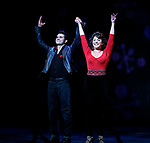 Derek Keeling & Anna Aimee White taking bows during American Idol Heartthrob Ace Young makes his Broadway Debut in the Broadway Revival of GREASE at the Brooks Atkinson Theatre in New York City.<br />