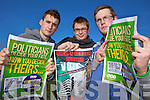 Mike Thompson (VP Students Union), David Scott (President Students Union) and second year Informations Systems Management Michael Buckley who are campaigning students to have their say in the upcoming general election.