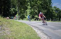 Nils Politt (DEU/Katusha-Alpecin) leading the race<br /> <br /> Stage 6: Le parc des oiseaux/Villars-Les-Dombes &rsaquo; La Motte-Servolex (147km)<br /> 69th Crit&eacute;rium du Dauphin&eacute; 2017