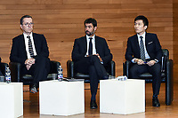 Jacques Henry Eyraud-Andrea Agnelli-Steven Zhang <br /> Milano 19/09/2019 - convegno Financial Fair Play / Photo Daniele Buffa/Image Sport/Insidefoto