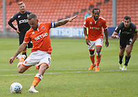 Blackpool's Jay Spearing scores his side's first goal  from a penalty kick<br /> <br /> Photographer Rachel Holborn/CameraSport<br /> <br /> The EFL Sky Bet League One - Blackpool v Bradford City - Saturday September 8th 2018 - Bloomfield Road - Blackpool<br /> <br /> World Copyright &copy; 2018 CameraSport. All rights reserved. 43 Linden Ave. Countesthorpe. Leicester. England. LE8 5PG - Tel: +44 (0) 116 277 4147 - admin@camerasport.com - www.camerasport.com